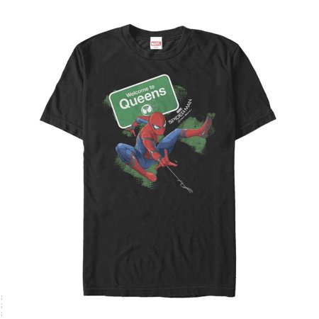 Marvel Men's Spider-Man Homecoming Welcome to Queens T-Shirt
