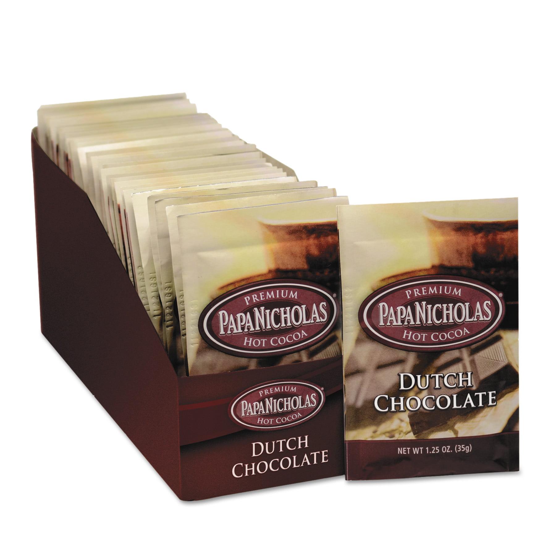 PapaNicholas Dutch Chocolate Premium Hot Cocoa Mix, 1.25 oz, 24 ...