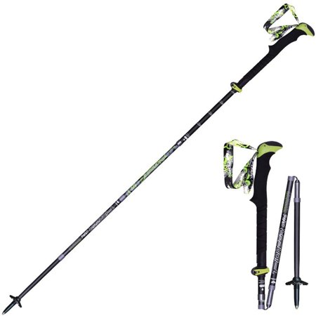 FLAMROSE Trekking Poles â?? Lightweight, Carbon Fiber, Quick Lock, Detachable Wristband, for Hiking, Walking, Backpacking and Snowshoeing, Folding Sticks Matte black
