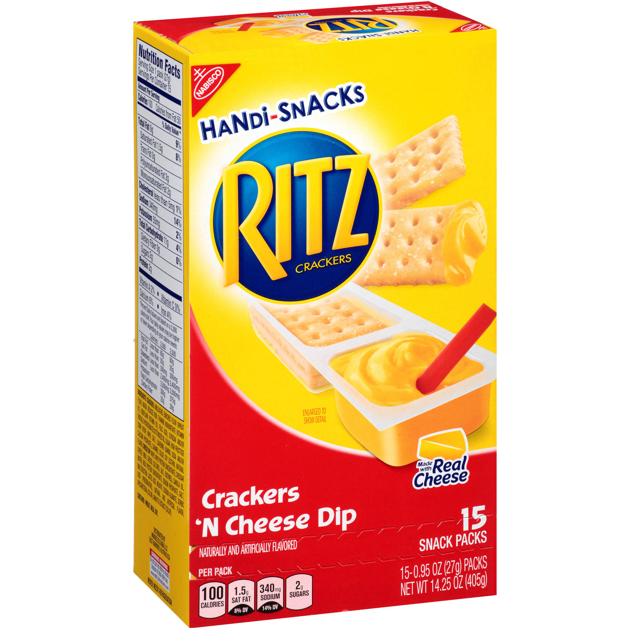 Nabisco Handi-Snacks Ritz Crackers 'n Cheese Dip, .95 oz, 15 count