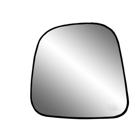 88196 - Fit System Driver Side Non-heated Mirror Glass w/ backing plate, Chevrolet Express Full Size Van, GMC Savana Full Size Van 96-02, 8 3/ 16