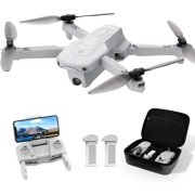 Holy Stone HS175 Drone with 2K Camera GPS Auto Return 5GHz FPV Follow Me 2 Batteries and Carrying Case Color Grey