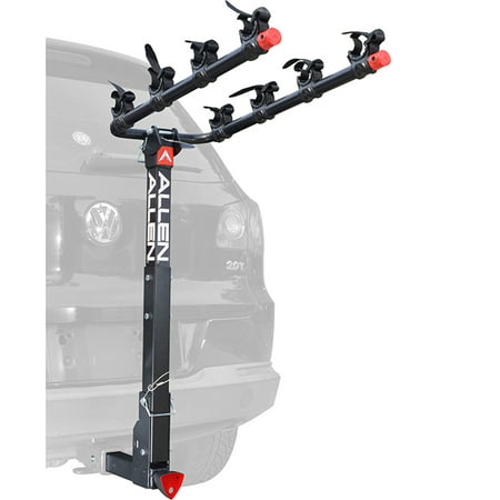 Allen Sports Deluxe Quick Install Locking 4-Bicycle Hitch Mounted Bike Rack Carrier,
