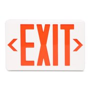 """Tatco LED Exit Sign with Battery Back-Up - 1 Each - Exit Print/Message - 12.3"""" Width x 8.8"""" Height - Both Sides Display - Polycarbonate - Off White"""