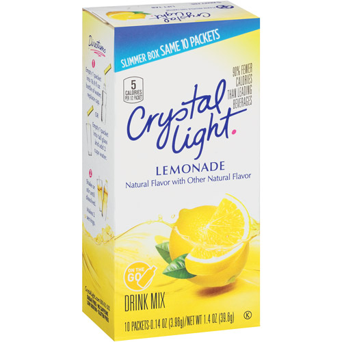 Crystal Light On The Go Lemonade Sugar Free Drink Mix, 10 Ct
