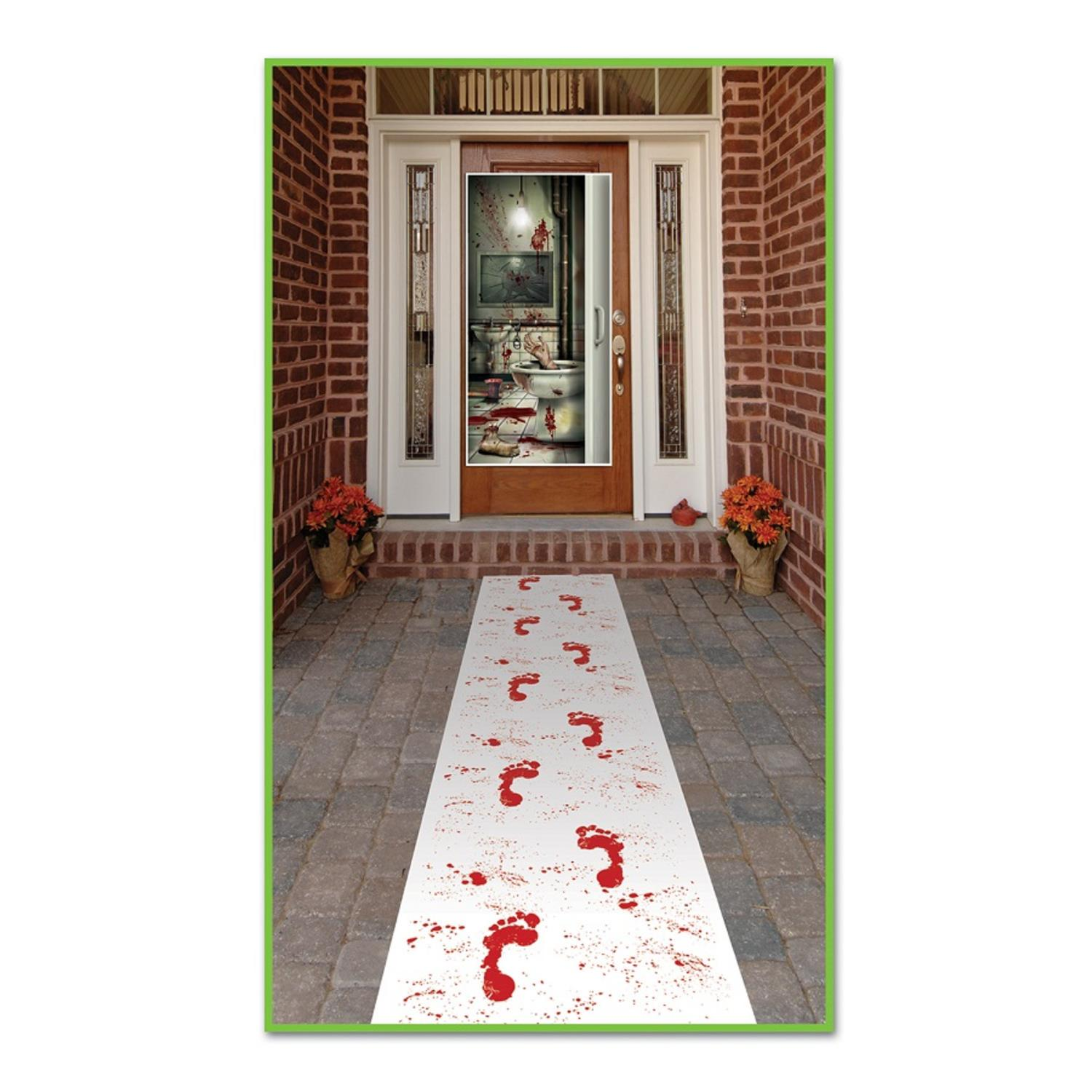 Pack of 6 Halloween Themed Bloody Footprints Path Runner Party Decorations 10'