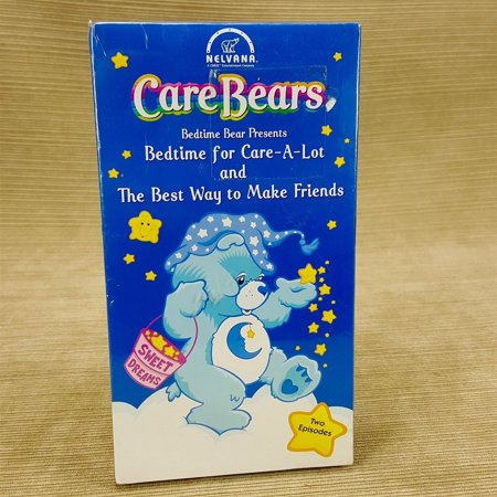 Care Bears VHS Tape Bedtime Care-A-Lot & Best Way to Make Friends Vintage