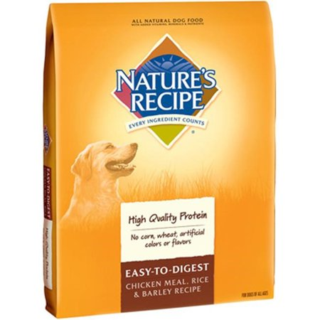 Natures Recipe Easy To Digest Chicken Meal  Rice   Barley Recipe Dry Dog Food  4 5 Lb