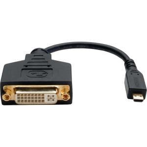 Tripp Lite 6in Micro HDMI (Type D) to DVI-D Adapter (M/F)