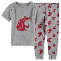 Washington State Cougars Toddler T-Shirt & Pants Sleep Set - Heathered Gray