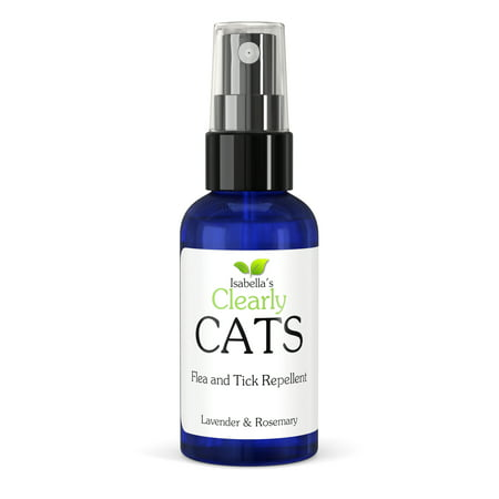 Isabella's Clearly CATS, Natural & Safe Flea and Tick Repellent, Topical Non-Toxic Formula to Keep Bugs