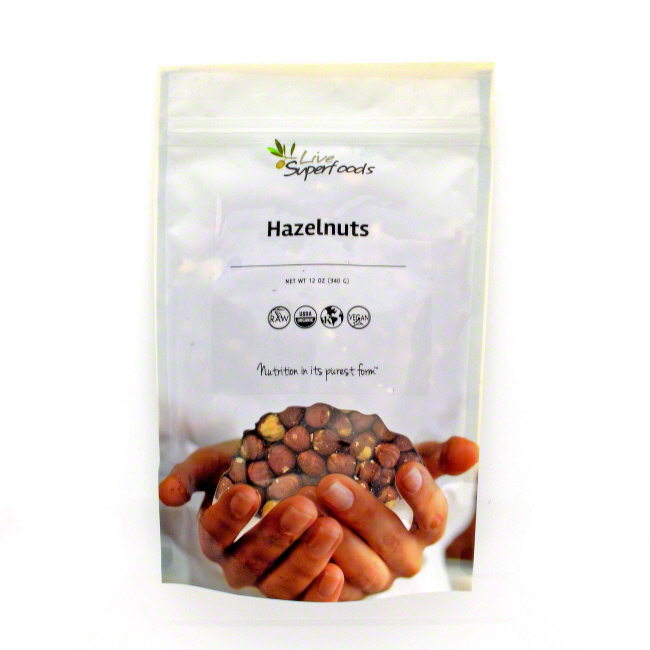Live Superfoods Hazelnuts, Organic, 12 oz by Live Superfoods