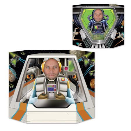 "Pack of 6 Decorative Space Pilot Photo Prop Stand Up Decoration 37"" - Space Decorations"