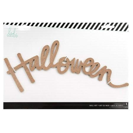 Heidi Swapp MDF Wall Word-Halloween - Heidi Halloween