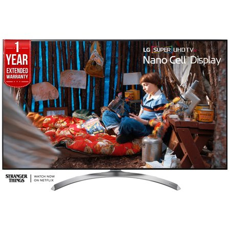 LG 65-inch Super UHD 4K HDR Smart LED TV 2017 Model (65SJ8500) with Additional 1 Year Extended Warranty - 2017 Halloween Tv Specials