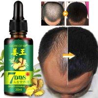 TekDeals ReGrow 7 Day Ginger Germinal Hair Growth Serum Hairdressing Oil Loss Treatement