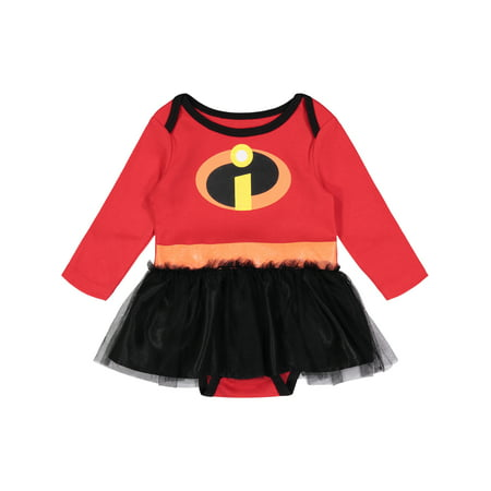 Disney Pixar The Incredibles Newborn Baby Girls' Costume Bodysuit Dress, 3-6M