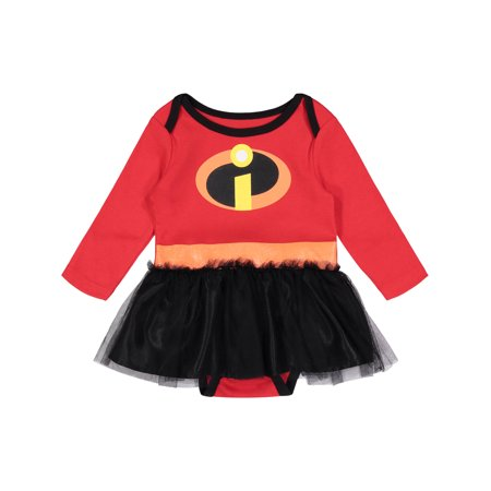 Disney Pixar The Incredibles Newborn Baby Girls' Costume Bodysuit Dress, - Barney Baby Costume