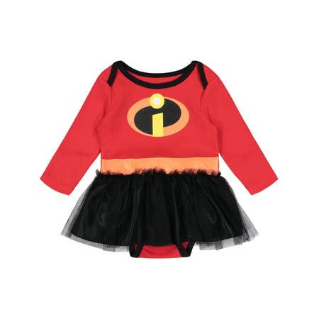 Newborn Girl Costumes (Disney Pixar The Incredibles Newborn Baby Girls' Costume Bodysuit Dress,)