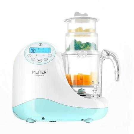 Mliter 5-in-1 Baby Food Maker with Steam Cooker, Blend & Puree, Warmer, Defroster, (Freshfoods Cook N Blend Baby Food Maker)