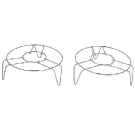 - Cookware 14cm x 5cm Stainless Steel 3 Legs Cooker Food Steam Rack 2 Pcs
