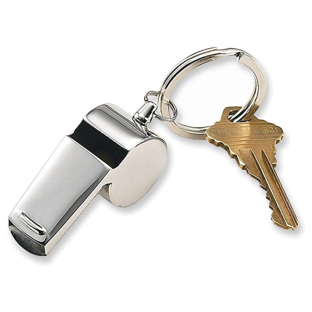 Stainless Steel Coach Whistle Key Ring by