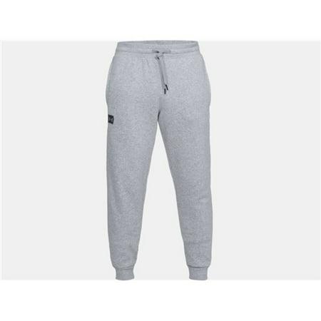 Under Armour 1320740036XL Mens Rival Fleece Jogger Athletic Pants Gray XL