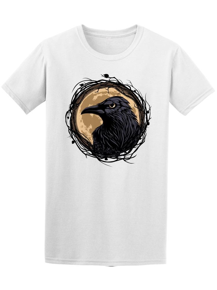 Baby Girls Little Boys Raven Crow Bird Under The Full Moon ComfortSoft Long Sleeve Tee