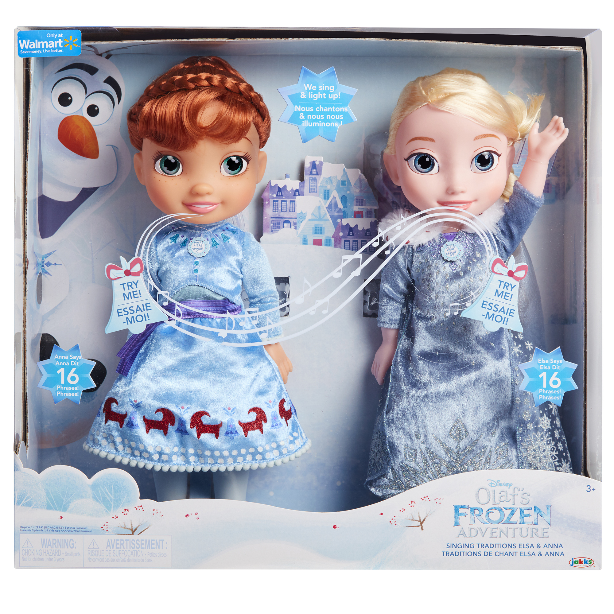 Disney Frozen Olafs Frozen Adventure Singing Traditions Elsa & Anna by Jakks Pacific
