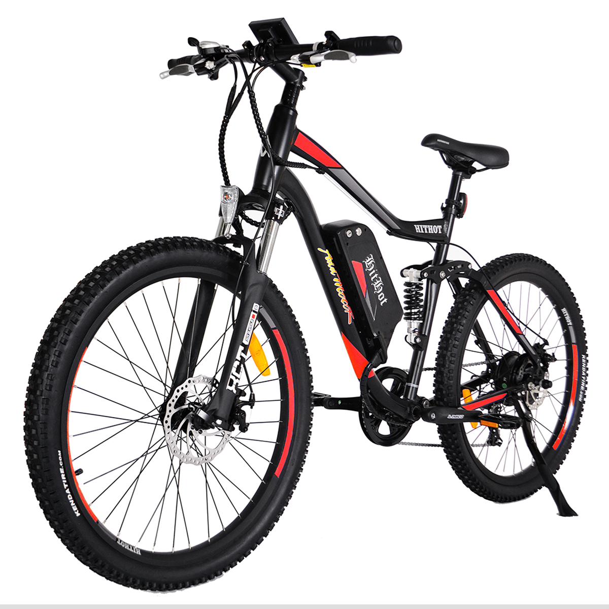 Addmotor HITHOT Electric Bicycles Bikes 48V 500W Bafang Motor 10.4 AH Electric Sport Mountain E-bike 2018 H1 For Adults