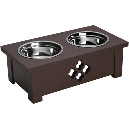 Elements 6 Inch, 1 Quart Espresso Quadra Foil Dog Dish Holder