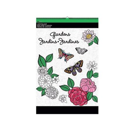 Kole Imports OT762-36 11 x 17 in. Gardens Large Coloring Pad - Pack of 36 - image 1 de 1