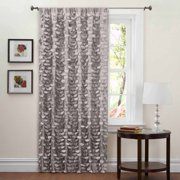 "Lillian Gray Window Curtain 40"" x 84"""