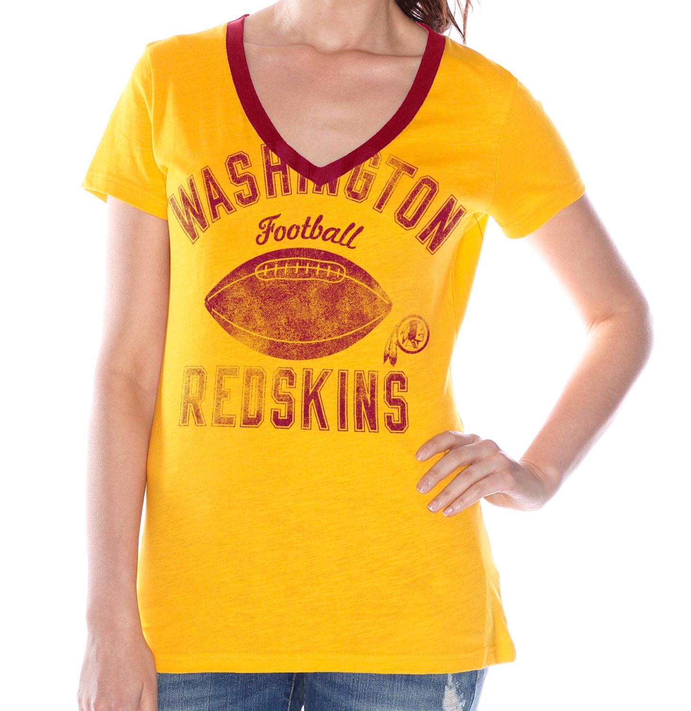 "Washington Redskins Women's G-III NFL ""Flea Flicker"" V-neck T-shirt"