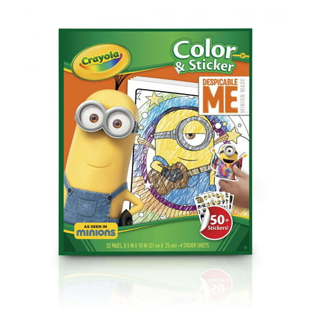 Crayola Despicable Me Coloring & Sticker Book, 32 Pages, 50+ Stickers