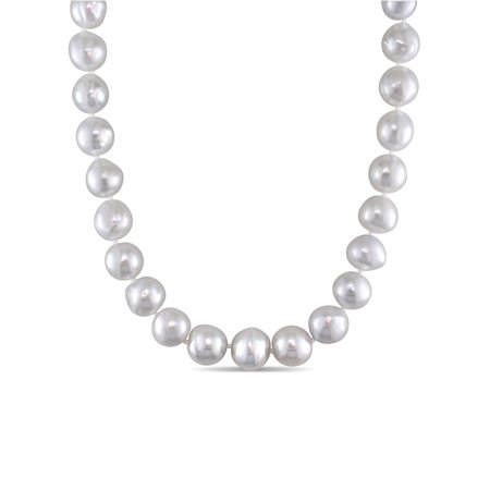"""Miabella 10-12MM South Sea Cultured Pearl 14kt Yellow Gold Graduated Strand Necklace, 18"""""""