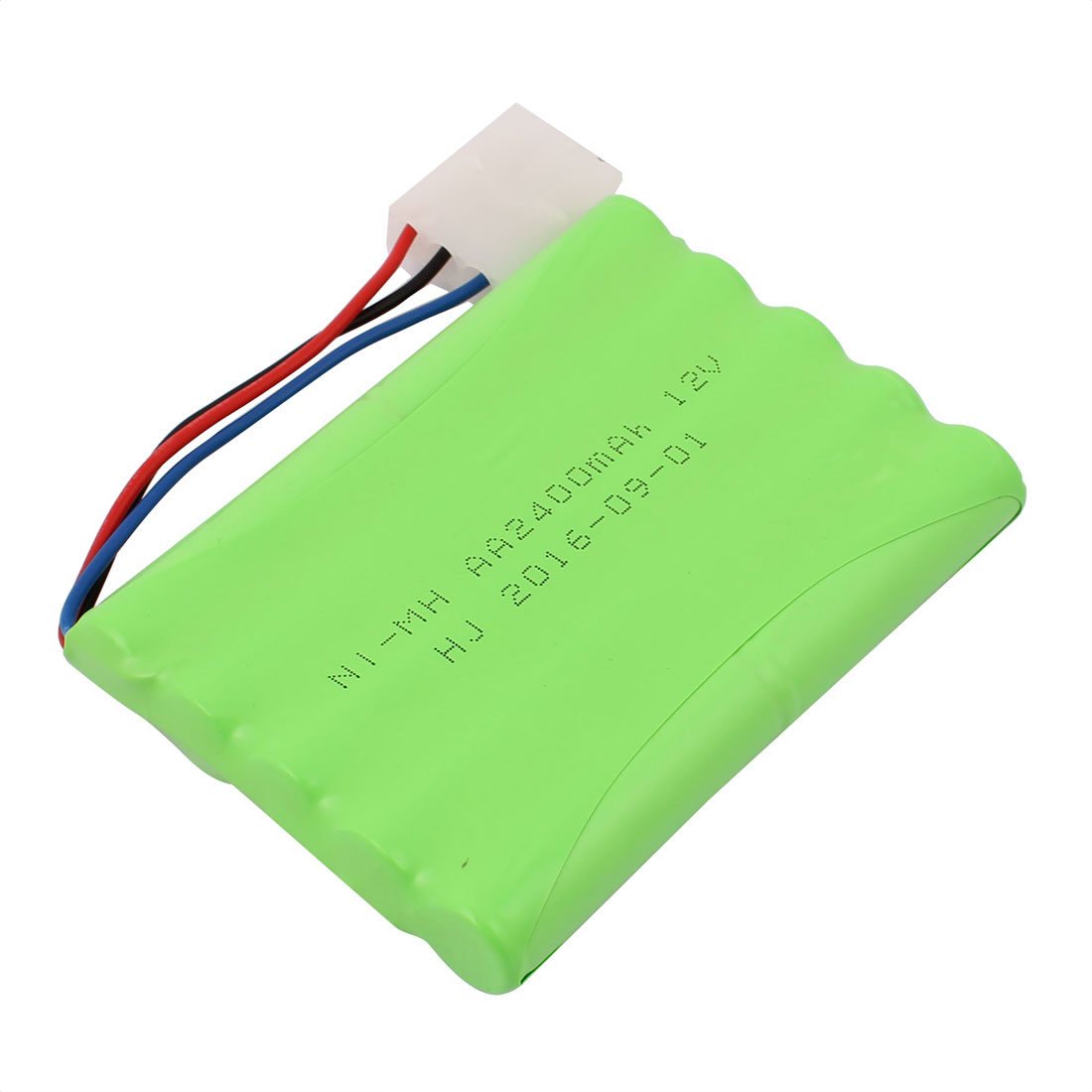 Unique Bargains 12V 2400mAh Rechargable Ni-MH AA Battery Pack for RC Airplane Aircraft w 3P Plug