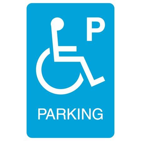 Blue Handicap Symbol Parking Print Car Lot Business Office Sign
