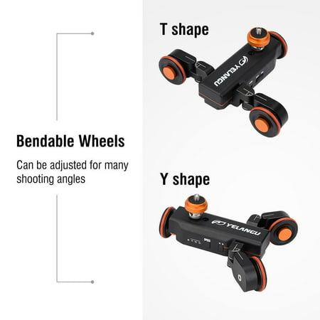 Mini Motorized Video Slider Electric Rolling 3-Wheel Dolly Pulley Car Skater for DSLR Camera Camcorder Smartphone - image 5 de 8