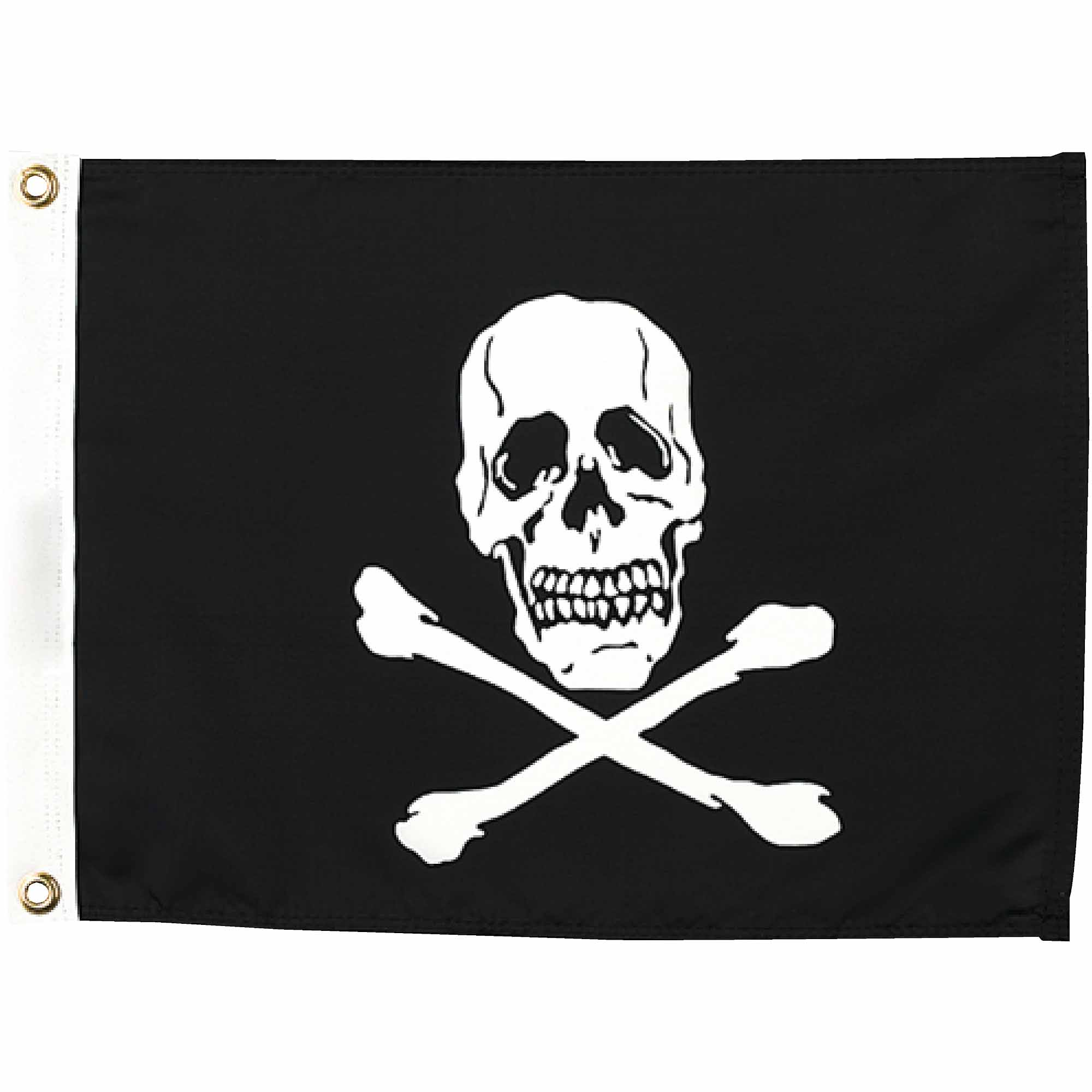 "Seachoice 12"" x 18"" Nylon Print Dyed Jolly Roger Flag"
