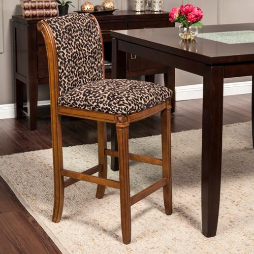 Leopard Animal Print Bar Stool Walmart Com
