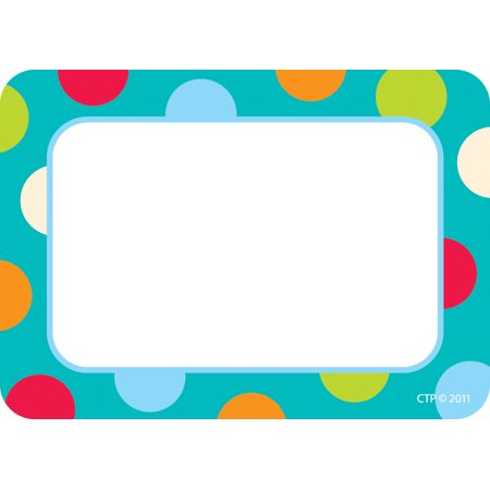 Dots On Turquoise Name Tags