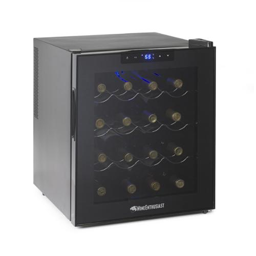 Wine Enthusiast - Bottle Dual Zone Silent Wine Refrigerator with Touchscreen Controls - For small but serious collections, this cooler features 2 temperature zones Price: $