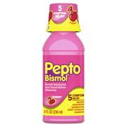 Pepto Bismol 5 Symptom Stomach Relief Liquid, Cherry Flavor, 8 Oz