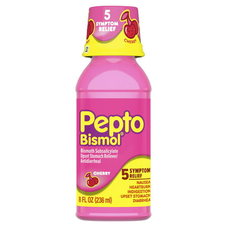 Pepto Bismol Liquid for Nausea, Heartburn, Indigestion, Upset Stomach, and Diarrhea Relief, Cherry Flavor 8