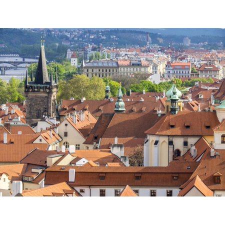 Czech Republic, Prague. Rooftops as seen from above. Print Wall Art By Julie - Above Rooftop Halloween