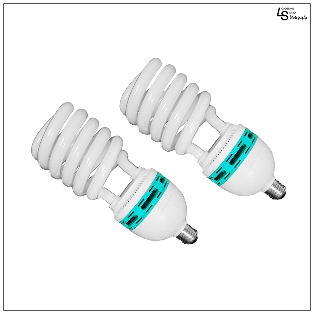 2x 45W CFL Fluorescent Spiral Light Bulb Pure White 6500K Daylight Color Balanced for Photo Video Lighting by Loadstone Studio WMLS0226