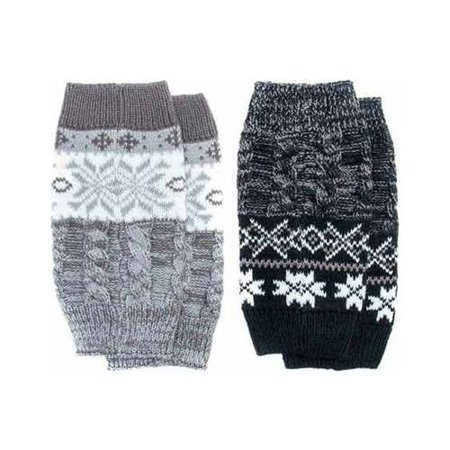 Hosiery Gloves (Women's Reversible Snowflake Boot Topper 9 x 3.75)