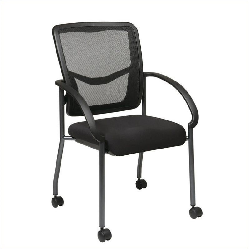ProGrid Back Visitors Guest Chair in Coal