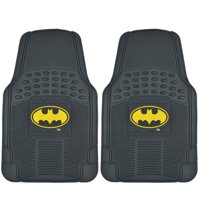 Original Batman Rubber Floor Mats for Car, 2-Piece Front Trimmable Heavy-Duty Protection